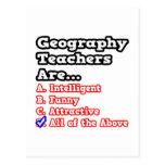 Geography Teacher Quiz...Joke Post Cards