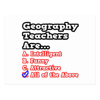 Geography Teacher Jokes Postcards   Zazzle