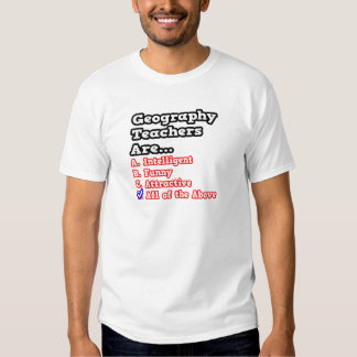 Geography Teacher Quiz...Joke Shirt