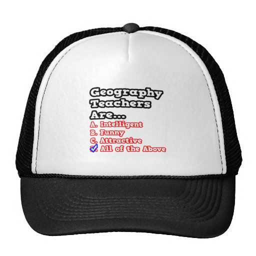 Geography Teacher Quiz...Joke Trucker Hats