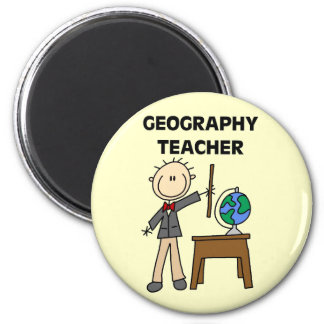 GEOGRAPHY TEACHER Tshirts and Gifts 2 Inch Round Magnet