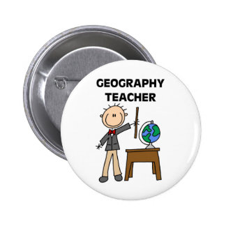 GEOGRAPHY TEACHER Tshirts and Gifts Button