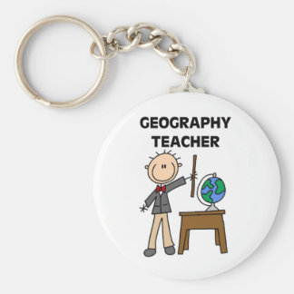 GEOGRAPHY TEACHER Tshirts and Gifts Keychain