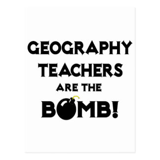 Geography Teachers Are The Bomb! Postcard