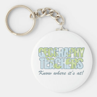Geography Teachers Know Where It's At Keychain