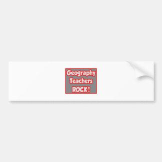 Geography Teachers Rock! Bumper Sticker