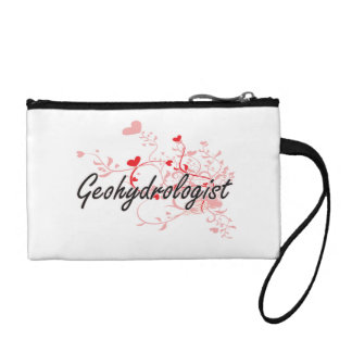 Geohydrologist Artistic Job Design with Hearts Change Purse