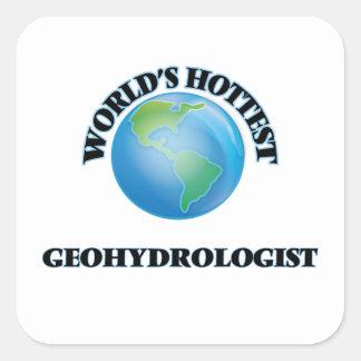 Geohydrologist más caliente del mundo pegatina cuadrada
