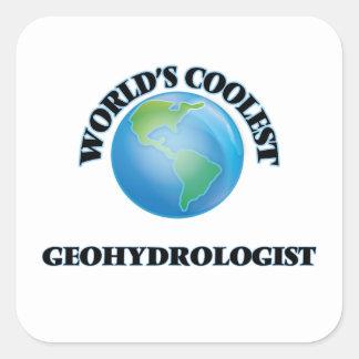 Geohydrologist más fresco del mundo pegatina cuadrada