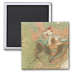 Geol map US 2 Inch Square Magnet