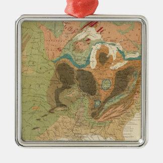 Geol map US Metal Ornament