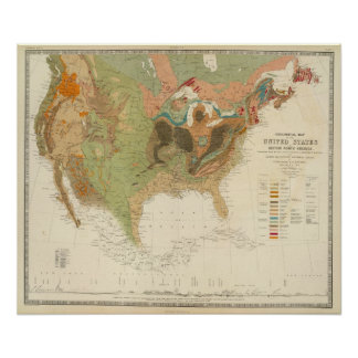 Geol map US Posters