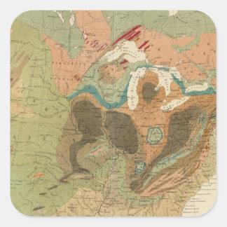 Geol map US Square Sticker