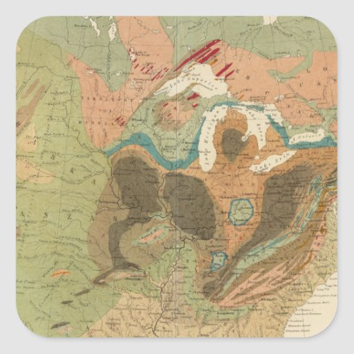 Geol map US Square Sticker