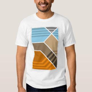Geología abstracta de la zona de la subducción camisas