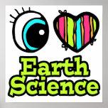 Geología brillante del amor del corazón I del ojo Impresiones
