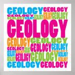 Geología colorida posters