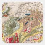 Geología de Europa Pegatina Cuadrada