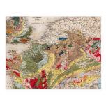 Geología de Europa Postales