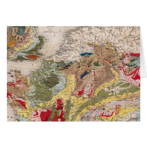 Geología de Europa Tarjeta De Felicitación