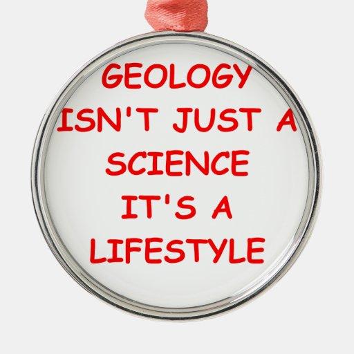 geología adorno de navidad