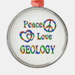 GEOLOGÍA del amor de la paz Adornos