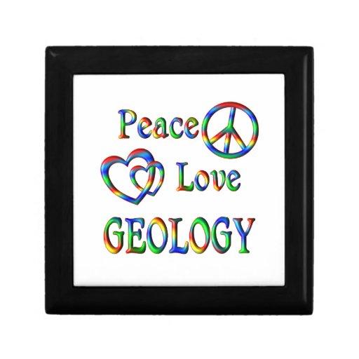 GEOLOGÍA del amor de la paz Cajas De Regalo