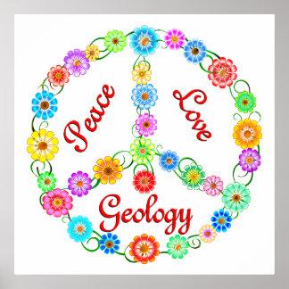 Geología del amor de la paz impresiones