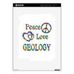 GEOLOGÍA del amor de la paz iPad 3 Pegatinas Skins