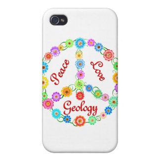 Geología del amor de la paz iPhone 4 carcasas