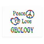 GEOLOGÍA del amor de la paz Postal