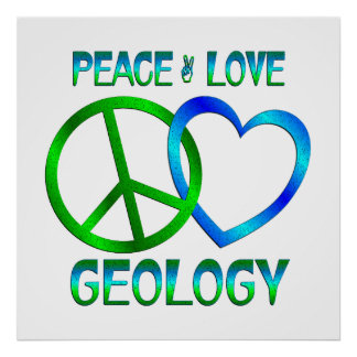 GEOLOGÍA del amor de la paz Posters