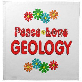 Geología del amor de la paz servilleta de papel