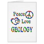 GEOLOGÍA del amor de la paz Tarjetón