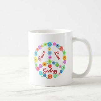Geología del amor de la paz taza de café