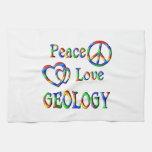 GEOLOGÍA del amor de la paz Toallas