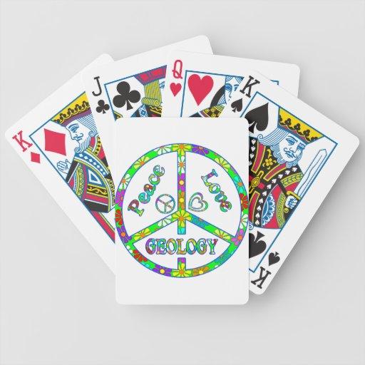 Geología del signo de la paz cartas de juego