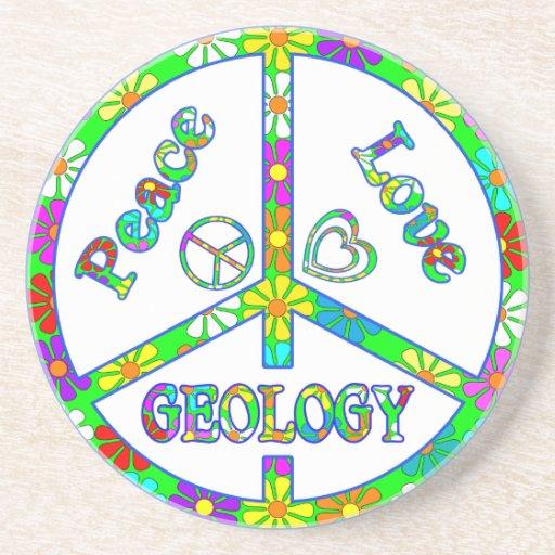 Geología del signo de la paz posavasos diseño