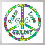 Geología del signo de la paz poster