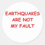 geología etiquetas redondas