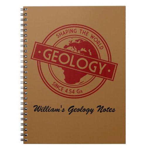 Geología que forma el logotipo del mundo (Europa) Libro De Apuntes