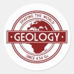 Geología que forma el logotipo del mundo (Europa) Etiqueta Redonda