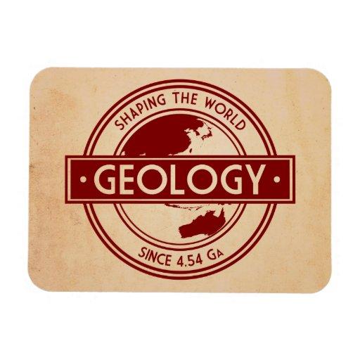 Geología que forma el logotipo del mundo imán