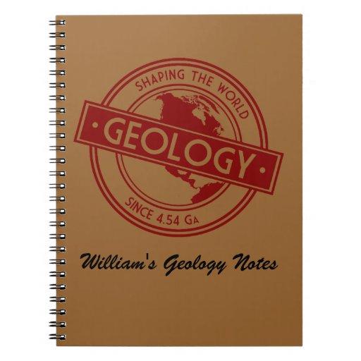 Geología que forma el logotipo del mundo libretas
