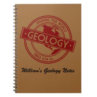 Geología que forma el logotipo del mundo (Norteamé Libretas