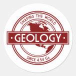 Geología que forma el logotipo del mundo (Norteamé Pegatinas
