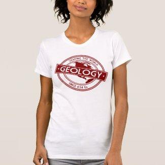 Geología que forma el logotipo del mundo (Norteamé Camiseta