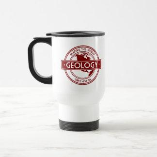 Geología que forma el logotipo del mundo Norteamé Taza De Café