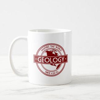Geología que forma el logotipo del mundo taza clásica