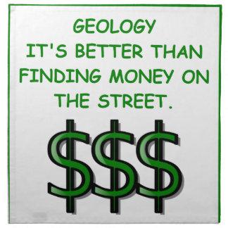 geología servilleta imprimida